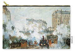 Arrival Of A Train Carry-all Pouch by Claude Monet