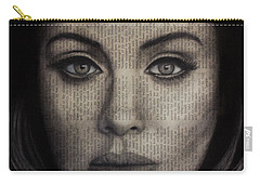 Art In The News 72-adele 25 Carry-all Pouch by Michael Cross