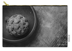 Artichoke Black And White Still Life Three Carry-all Pouch by Edward Fielding