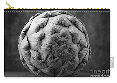 Artichoke Black And White Still Life Two Carry-all Pouch by Edward Fielding