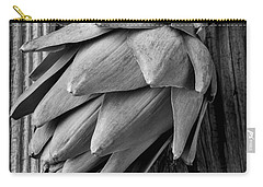 Artichoke In Black And White Carry-all Pouch by Garry Gay