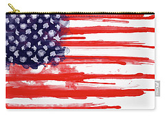 American Spatter Flag Carry-all Pouch by Nicklas Gustafsson