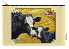 Holstein Cow And Calf Farm Carry-all Pouch by Crista Forest