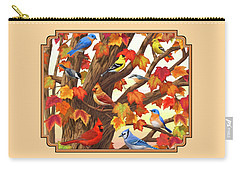 Maple Tree Marvel - Bird Painting Carry-all Pouch by Crista Forest