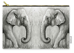 Elephant Watercolor Carry-all Pouch by Olga Shvartsur