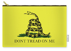 Gadsden Dont Tread On Me Flag Authentic Version Carry-all Pouch by Bruce Stanfield