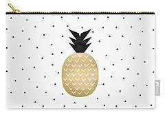 Golden Pineapple Carry-all Pouch by Elisabeth Fredriksson
