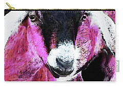Pop Art Goat - Pink - Sharon Cummings Carry-all Pouch by Sharon Cummings