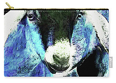 Goat Pop Art - Blue - Sharon Cummings Carry-all Pouch by Sharon Cummings