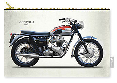 Bonneville T120 1962 Carry-all Pouch by Mark Rogan