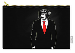 Domesticated Monkey Carry-all Pouch by Nicklas Gustafsson
