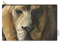 Asiatic Lion Carry-all Pouch by Mark Adlington
