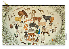 At The Heart Of It All Carry-all Pouch by Pat Scott