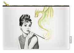 Audrey And Her Magic Dragon Carry-all Pouch by Olga Shvartsur