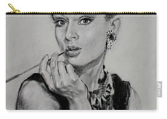 Audrey Hepburn Carry-all Pouch by Ylli Haruni