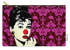 Audrey On Purple Carry-all Pouch by Jason Tricktop Matthews