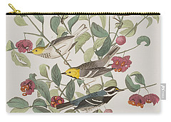 Audubons Warbler Hermit Warbler Black-throated Gray Warbler Carry-all Pouch by John James Audubon