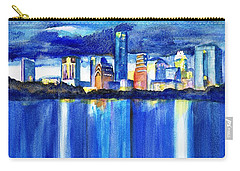 Austin Skyline At Sunset Carry-all Pouch by Carlin Blahnik