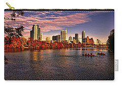 Austin Skyline Sunset Carry-all Pouch by Judy Vincent