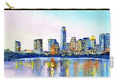 Austin Texas Skyline Carry-all Pouch by Carlin Blahnik