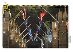 Avenue Of Flags Carry-all Pouch by Juli Scalzi