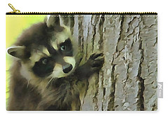 Baby Raccoon In A Tree Carry-all Pouch by Dan Sproul
