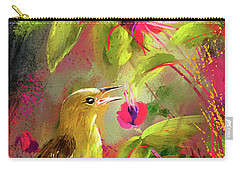 Baltimore Oriole Art- Baltimore Female Oriole Art Carry-all Pouch by Lourry Legarde