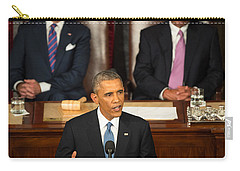 Barack Obama 2015 Sotu Address Carry-all Pouch by Science Source