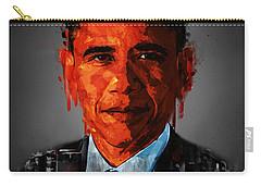 Barack Obama Acrylic Portrait Carry-all Pouch by Georgeta Blanaru