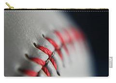 Baseball Fan Carry-all Pouch by Rachelle Johnston