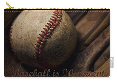 Baseball Yogi Berra Quote Carry-all Pouch by Heather Applegate