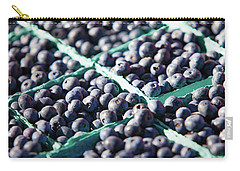 Baskets Of Blueberries Carry-all Pouch by Todd Klassy