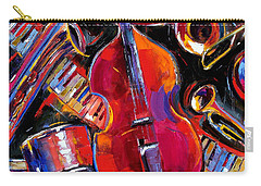 Bass And Friends Carry-all Pouch by Debra Hurd