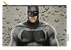 Batman Ben Affleck Carry-all Pouch by David Dias