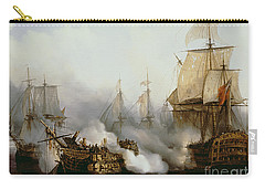 Battle Of Trafalgar Carry-all Pouch by Louis Philippe Crepin