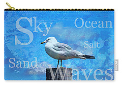 Beach Art Seagull By Sharon Cummings Carry-all Pouch by Sharon Cummings
