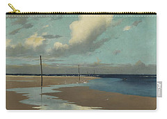 Beach At Low Tide Carry-all Pouch by Frederick Milner