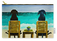 Beach Bums Carry-all Pouch by Roger Wedegis