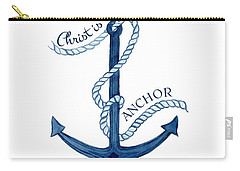 Beach House Nautical Ship Christ Is My Anchor Carry-all Pouch by Audrey Jeanne Roberts