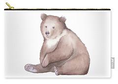 Bear Watercolor Carry-all Pouch by Taylan Apukovska