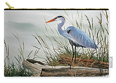 Beautiful Heron Shore Carry-all Pouch by James Williamson