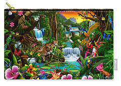 Beautiful Rainforest Carry-all Pouch by Gerald Newton