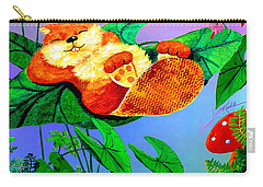 Beaver Bedtime Carry-all Pouch by Hanne Lore Koehler