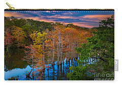 Beavers Bend Twilight Carry-all Pouch by Inge Johnsson
