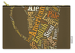 Beer Lovers Tee Carry-all Pouch by Edward Fielding