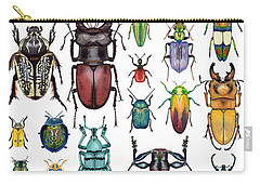 Beetle Collection Carry-all Pouch by Kelly Jade King