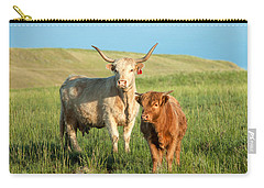 Big Horn, Little Horn Carry-all Pouch by Todd Klassy