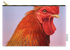Big Red Rooster Carry-all Pouch by James W Johnson