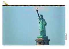 Big Statue, Little Boat Carry-all Pouch by Sandy Taylor