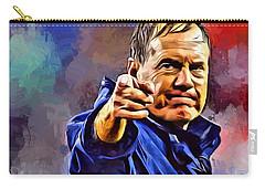 Bill Belichick Carry-all Pouch by Scott Wallace